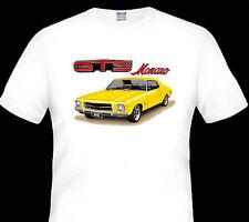 71'  74' HOLDEN HQ COUPE  308  GTS  MONARO  V8  WHITE TSHIRT