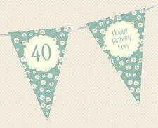 Personalizado Margarita Floral Cumpleaños Edad escribano-