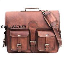Men's Genuine Leather For All Laptop Messenger Handmade Briefcase Bag Satchel