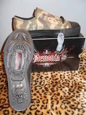 Nos Demonia Devil Army Woodland Camouflage Low Top Sneaker Shoes Punk Vegan 12