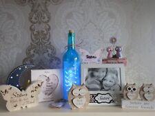 Sister Gifts LED Bottles owls plaques keyrings Photo frame Hanging Heart Memory