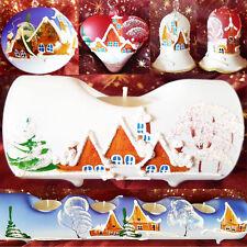 Kerzenständer Christbaumkugel Glocke Weihnachten Handbemalt Christbaumschmuck