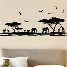 Sticker Décoration XXL Nature Afrique Eléphants, Girafes, (40x90 cm à 60x135 cm)