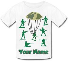 Verde giocattolo soldato s Personalizzata Bambino T-shirt sublimazione    denominato RAGAZZO REGALO   a70a0e2347c8