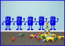 Little Robots x1 Children's Wall Sticker Decal Wall Tattoo Stencil Poster