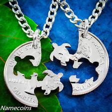 Turtle Best Friends Necklaces, Interlocking set