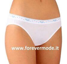 2 Slip donna Sloggi 100 Mini in cotone elasticizzato, elastico logo art 100 Mini