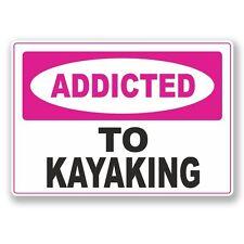 2 X adictos a Kayak Pegatina de vinilo Laptop Viaje Equipaje Coche #6553