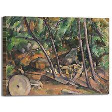 Cezanne macina nel parco design quadro stampa tela dipinto telaio arredo casa