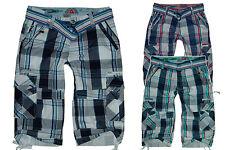 HerreN BerMuDa 3/4 Hose *Karo*Cargo* Shorts Gr.XS-XL W29-W36 Short #HS-ADLxx