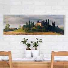 Leinwandbild Landgut in der Toskana Panorama Quer Leinwand XXL Bild Kunstdruck