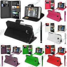 Schutz Hülle für HTC One Mini M4 601 Handy Brieftasche Flip Case Cover Schale