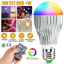 16 Colors Changing 9W E27 Magic RGB LED Light Bulb Home Lamp + IR Remote Control