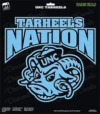 UNC Tarheels Nation NCAA University UNC Football Vinyl Decal Car Window Sticker