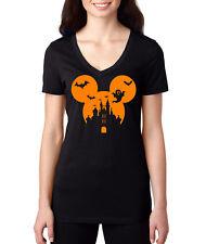 halloween shirt disney mickey mouse shirt womens v neck party t shirt new