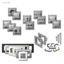 Steckdosenprogramm MODUL+ Schalterprogramm silber Unterputz Steckdosen Schalter