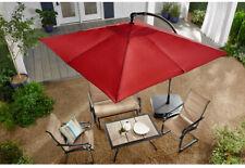 f0c38f181f20 Hampton Bay 8 Ft. Square Aluminum Cantilever Offset Patio Umbrella In Chili