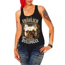 Frauen Trägershirt Top Französische Bulldogge Molosser Begleithunde french bulld