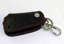Auto Car Keychain Keyfob Keyring PU Leather Key Case Holder Cover Brand New