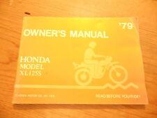Honda Factory Owners Manual 1979 XL125S XL125 S