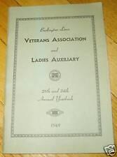 Burlington Lines Veterans Association Ladies Aux 1948