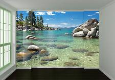 3D Fluss, Stein 55 Fototapeten Wandbild Fototapete Bild Tapete Familie Kinder