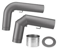 Justus Rohrset standard gezogen schwarz grau Rohr-Set Rauchrohr Ofenrohr Rohr