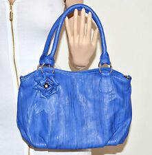 BORSA BLU donna ragazza bauletto eco pelle tracolla bag sac сумки bolsa 63