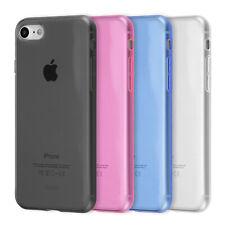 Ultra Slim Case iPhone 8 7 / Plus TPU Schutz Hülle Soft Cover Clear Farbe Folie