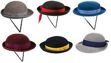 Traditional Girls Felt School Uniform Hats - Many Colours & Styles - Adult Sizes