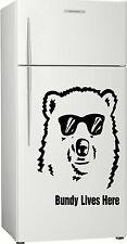 Present 1, Gift Bundy Bear Fridge, Bar, Rum Sticker Decal, 580 x 400mm