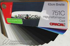 (7,63€/m²)   Oracal 751C, Plotter-Folie, 5m 63cm, Grau-/Metalliktöne