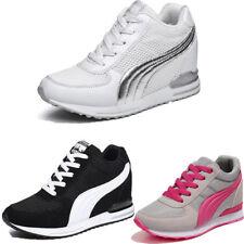 Women Fashion Athleisure Fitness High Heels Platform Mesh Sport Shoes Sneakers