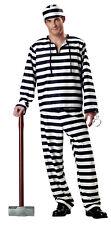 Jailbird Prisoner Convict Adult Halloween Costume