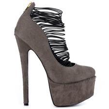"NEW London Trash ""Ceres"" - WAS $170! - Grey Stiletto, 6.5"" heel, 2"" platform"