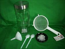 Lebensmittelbetrieb Wasserkefir Set Kefir Tibi Kefirbrause Sieb Trichter Plastik