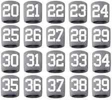#20-39 Number Sweatband Wristband Lacrosse Softball Volleyball Gray White