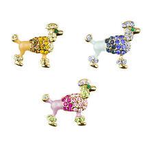 Esmalte multicolores Caniche Perro Broche Alfileres De Sombrero Lindo Perro Broche Pin para mujeres