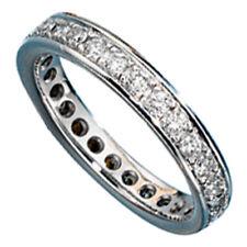 Memory Ring 585 Gold Weißgold mit Diamanten Brillanten rundum Memoryring 28096
