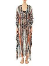 $698 NEW DVF Diane von Furstenberg ANNUSHKA Python Print Silk Caftan Dress P S M