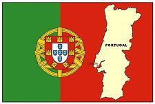 PORTUGAL MAPA & BANDERA - RECUERDO IMÁN DE NEVERA - COMPLETAMENTE NUEVO