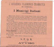 B165-FERRARA-ACCADEMIA FILARMONICA DRAMMATICA 1872