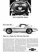 188362 1965 Chevrolet Corvette Turbo Jet 396 Wall Print Poster AU