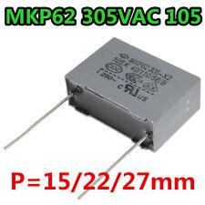 5Pcs MKP62 305VAC X2 105M 105K 105 1uf 10/22/27 mm Polypropylene Film Capacitor