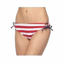 ENDLESS SUN Size XS S M L XL Red White Striped Side Tie String Bikini Bottoms