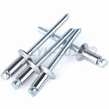 Aluminum Blind Pop Rivets Flat Head Open End M2.4 M3.2 M4 M5 M6