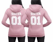 SISTER Pullis in Rosa Schwestern beste Freundin SISTER 01 Hoodie WUNSCHZAHLEN