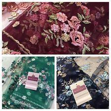 """Embroided Floreale Rose Elegante smerlato in taglio netto abito da sposa in tessuto 58"""" M794"""