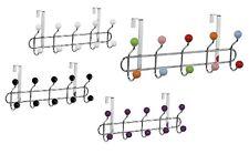 10 Hook Over Door Hanger Chrome Ceramic Balls White Black Purple Multi Colour