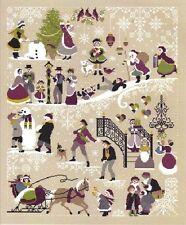 Christmas Tree Snowman Snow Play Ground Santa Claus Cross Stitch Pattern